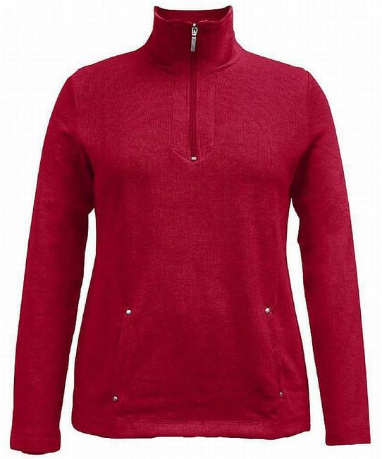 Item - Women's Red Size Small S Half Zip Knit Sweater/Pullover