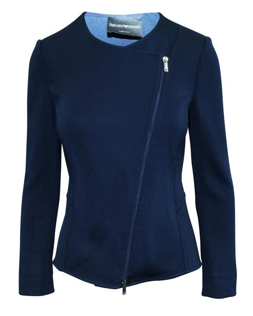 Item - Emporio Navy Blue Zipped Jakcet -pre Owned Condition Very Good Coat