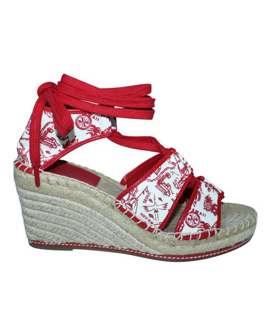 Item - Red Espadrilles -pre Owned Condition Excellent Us9 Wedges