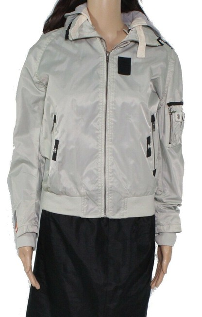 Item - Women's Jacket Silver Size Small S Full-zip Hooded Bomber Pants