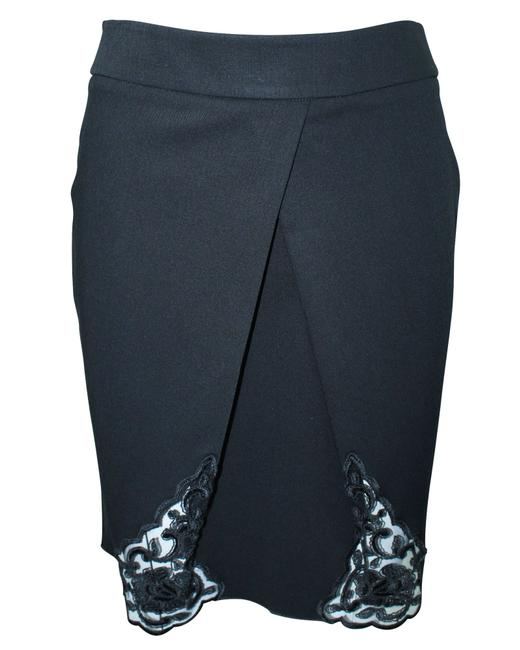 Item - Emporio Black with Side Lace Panels -pre Owned Condition Skirt