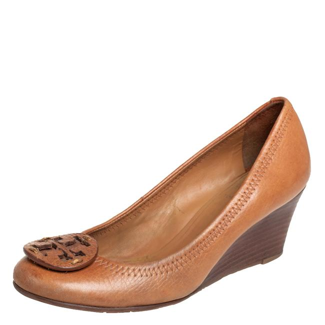 Item - Tan Leather Sally Wedge Size 35 Pumps
