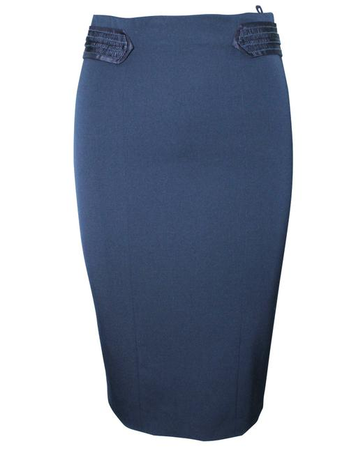 Item - Emporio Navy Blue Lace Waist Panels -pre Owned Condition Very Skirt