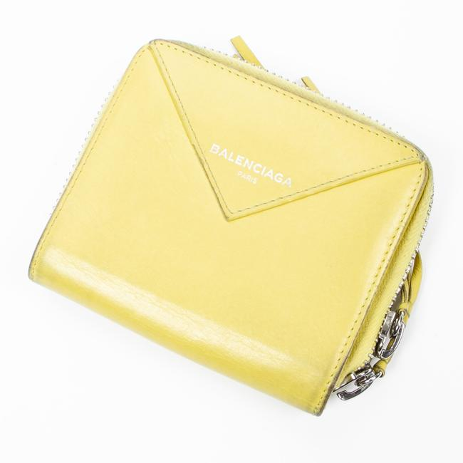Item - Square Papier Zip-around In Yellow Calf Leather Wallet