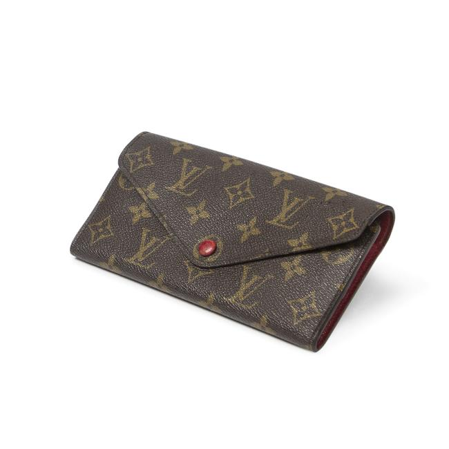 Item - Josephine In Brown/Red Coated Canvas Wallet
