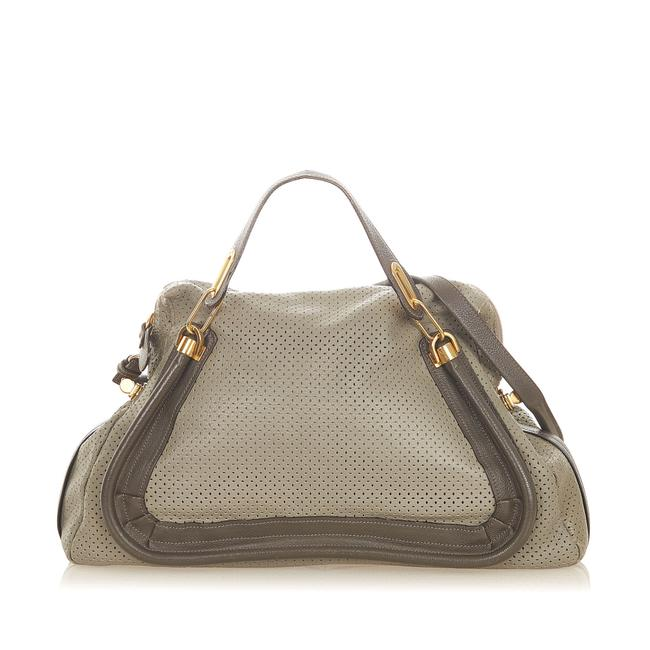 Chloé Paraty Perforated Leather Satchel Chloé Paraty Perforated Leather Satchel Image 1