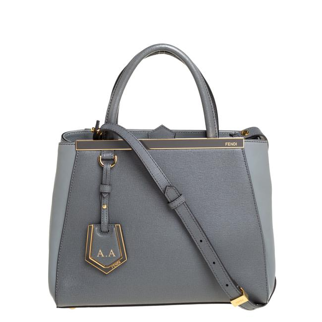 Item - Grey Leather Small 2jours Tote