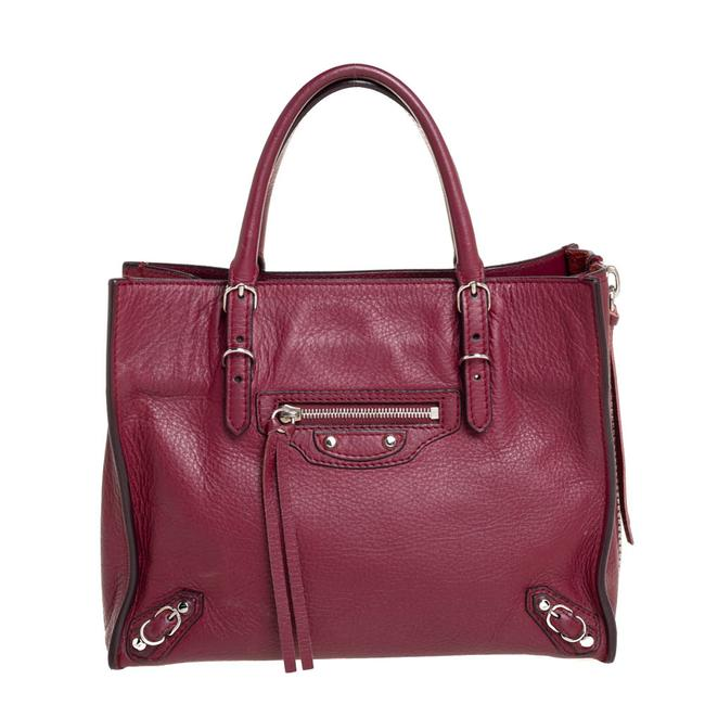 Item - Ruby Leather Mini Papier A4 Tote