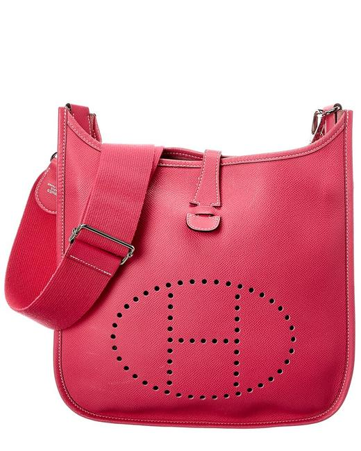 Item - Evelyne Pre-owned Rose Tyrien Epsom Leather Iii Pm 2490683 Tote