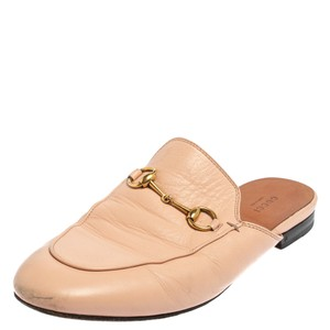 Gucci Horsebit Pink Leather Princetown Mules Size 39 Sandals