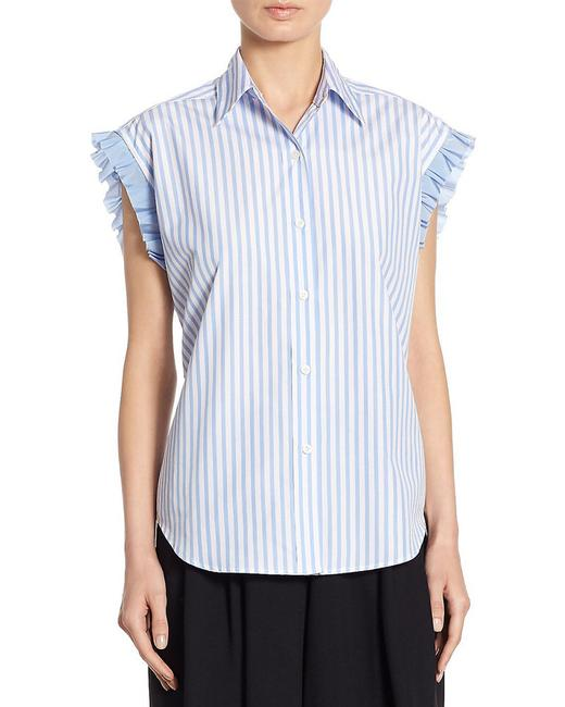 Item - Womens Lace-up Top 8 Blue 400097927054 Blouse