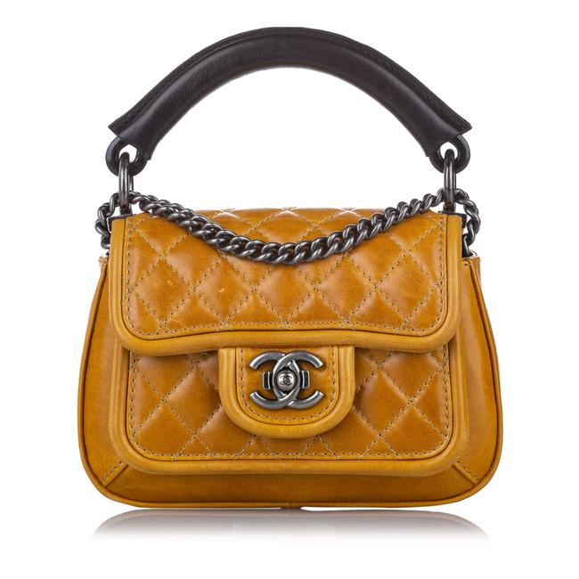 Item - Quilted Lambskin Leather Cross Body Bag