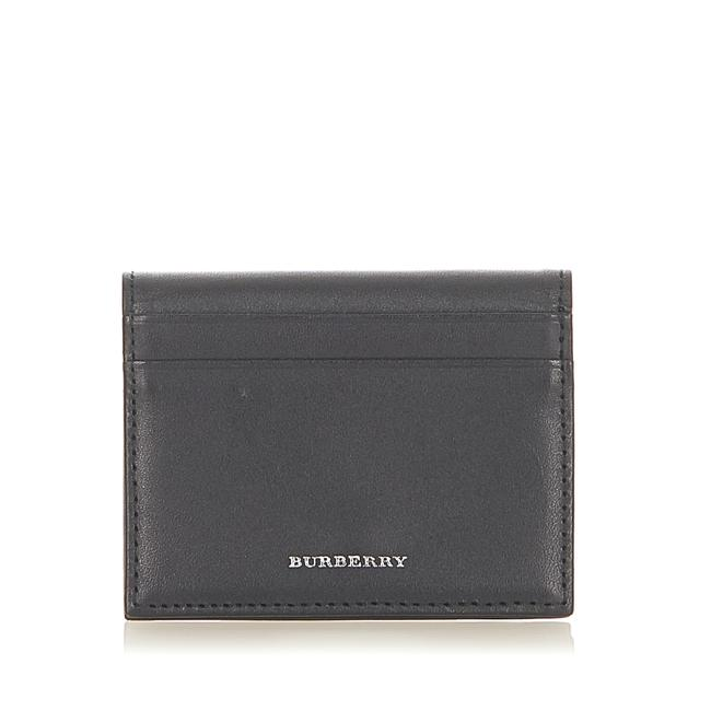 Item - Pre Owned Leather Card Holder Wallet