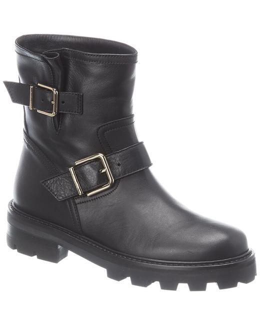 Item - Leather Youth Ii Sqm Black Boots/Booties