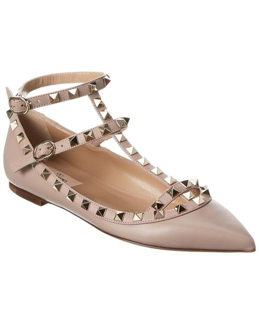 Item - Rockstud Caged Leather Ankle Strap Vw2s0376 Vod P45 Flats
