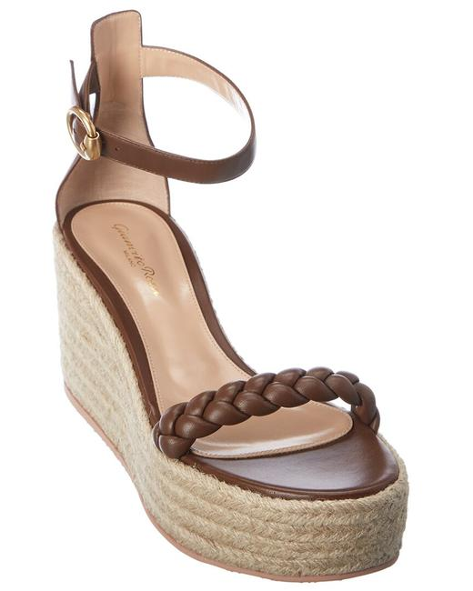 Item - Braided Strap 85 Leather Wedge G61667 45gom Nco Tent Sandals
