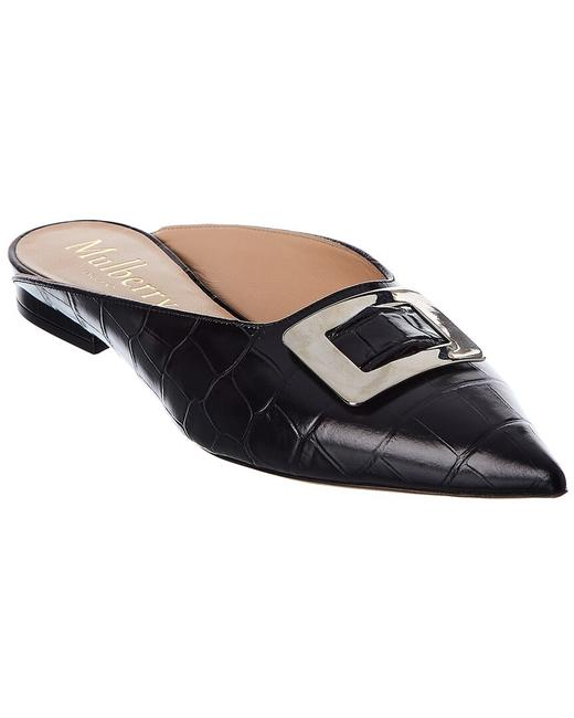 Item - Punky Croc-embossed Leather Sa4613 640 A100 Flats