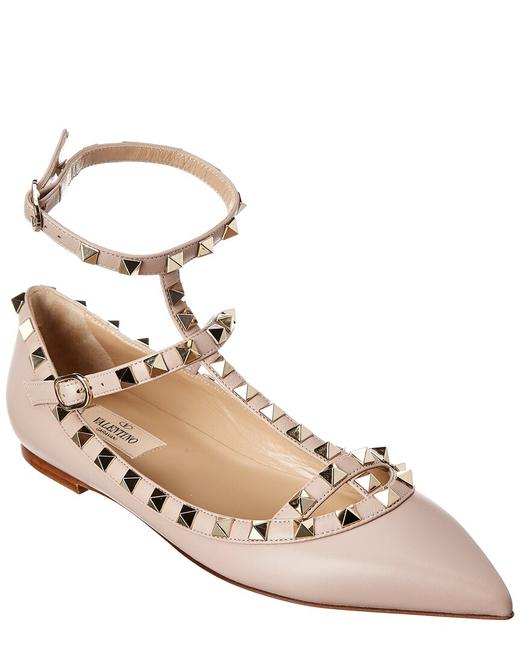 Item - Rockstud Caged Leather Ankle Strap S0376 Vod P45 Flats