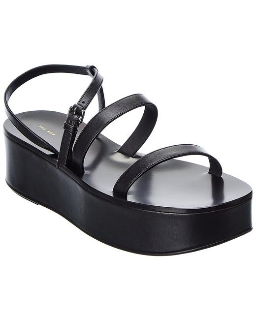 Item - Leather Wedge F1156 L52 Blk Sandals