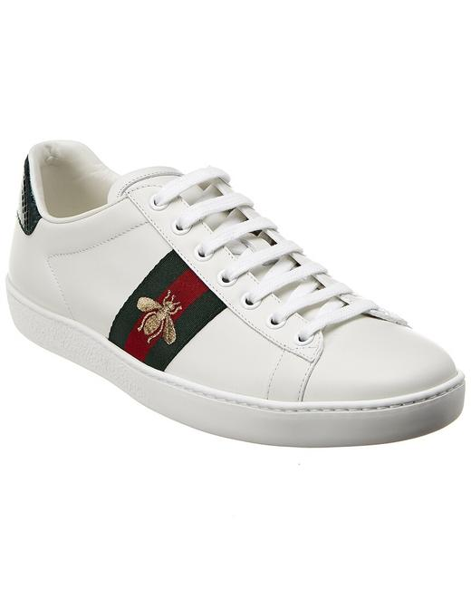 Item - Ace Embroidered Leather Sneaker 431942 A38g0 9064 Athletic