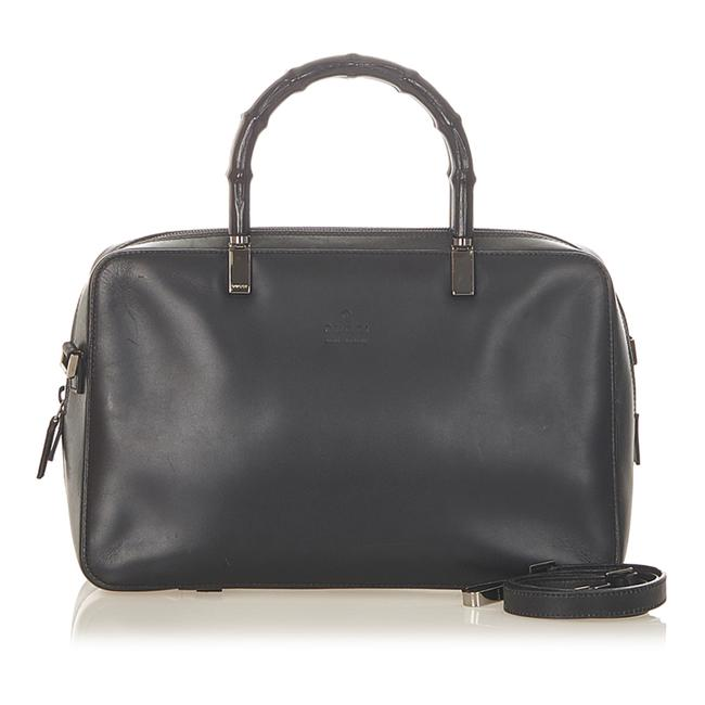 Gucci Bamboo Leather Satchel Gucci Bamboo Leather Satchel Image 1