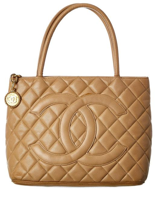 Item - Pre-owned Caviar Leather Medallion 7751-1 Tote