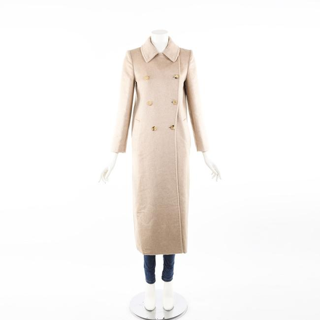 Item - Beige Camel Cashmere Double Breasted Long Coat 34
