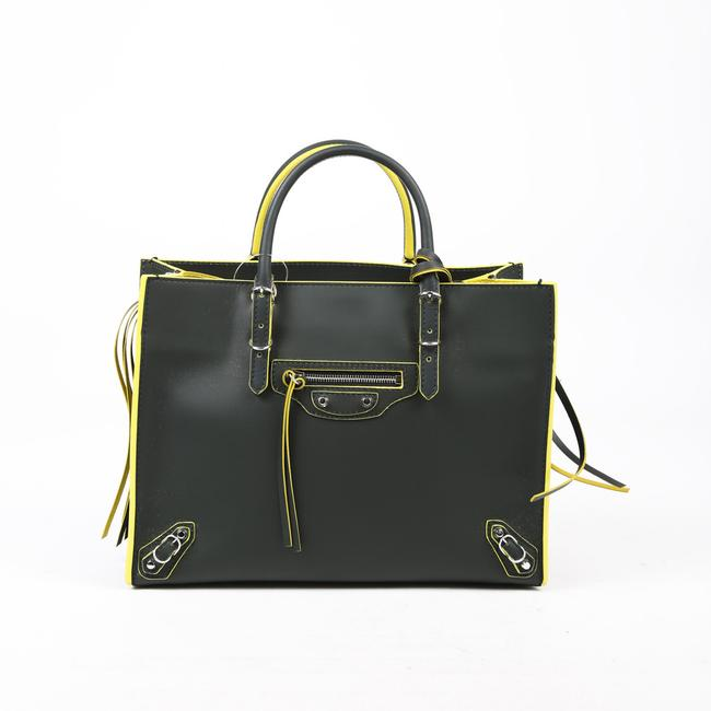 Item - Papier A6 Green Yellow Leather Cross Body Bag