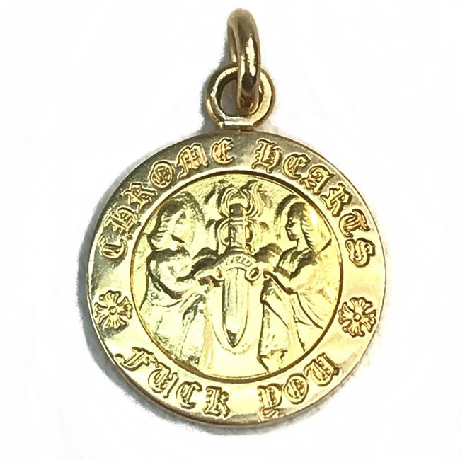 Item - Coin Circle Angel Medal Charm Pendant Top K22 Gold Jewelry