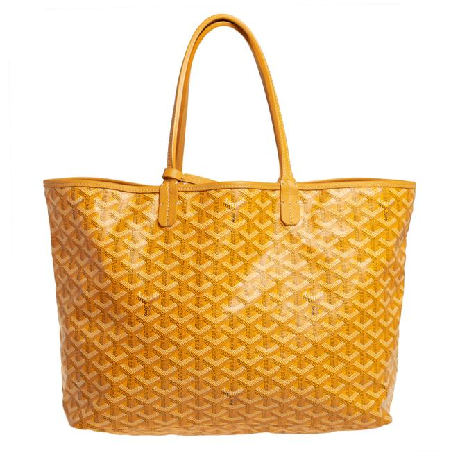 Item - Yellow ine Coated Canvas St. Louis Pm Tote