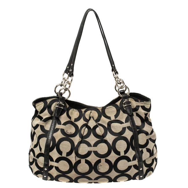 Item - Alexandre Op Art Canvas and Leather Hobo Bag