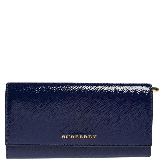 Item - Blue Patent Leather Continental Wallet