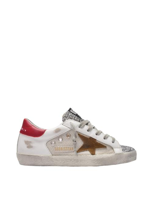 Item - Super-star Sneakers In White/Multicolored Leather Athletic