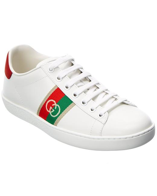 Gucci Ace Interlocking G Leather Sneaker 645767 1xgm0 9063 Athletic Gucci Ace Interlocking G Leather Sneaker 645767 1xgm0 9063 Athletic Image 1