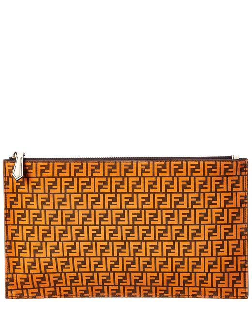 Item - Logo Ff Leather Pouch 8n0149 Afis F1e1f Wallet
