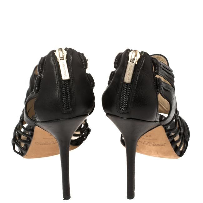 Jimmy Choo Black Leather Cutout Open Size 39.5 Boots/Booties Jimmy Choo Black Leather Cutout Open Size 39.5 Boots/Booties Image 5