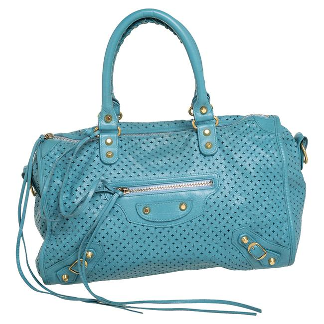 Item - Papete Perforated Leather Maxi Twiggy Bag Satchel