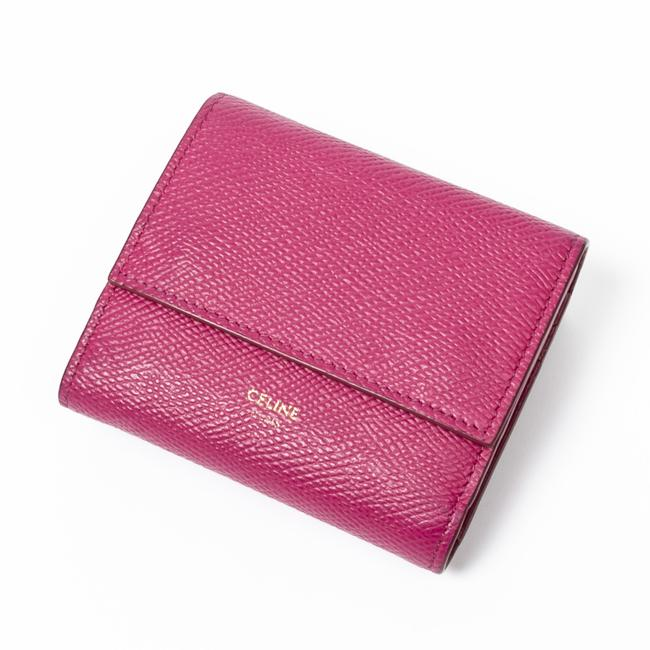 Céline Compact In Pink Calf Leather Wallet Céline Compact In Pink Calf Leather Wallet Image 1