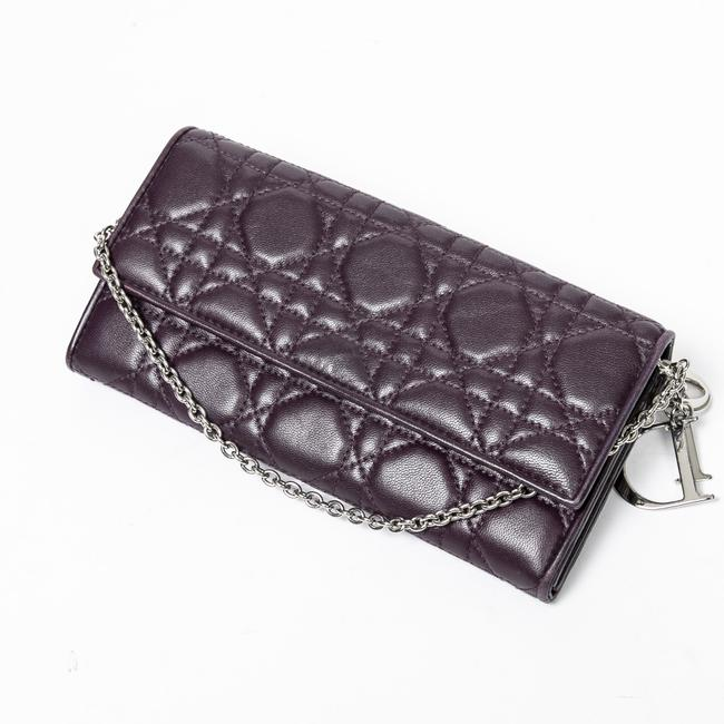 Item - Long Chain In Purple Calf Leather Wallet