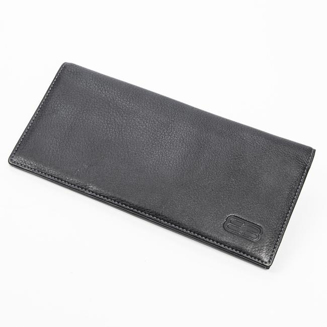 Item - Long Bifold In Black Calf Leather Wallet