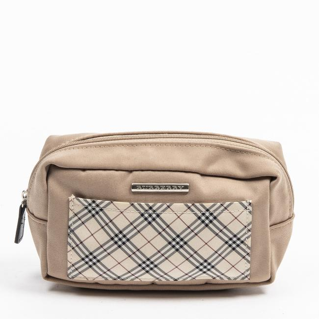 Item - Cosmetic Pouch Front Slip Small In Beige/Khaki Canvas Accessory