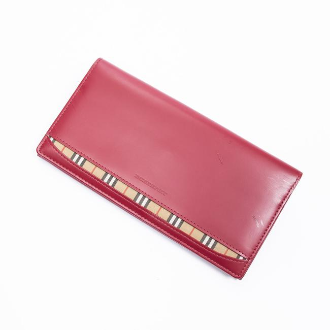 Item - Long Bifold In Red Calf Leather Wallet