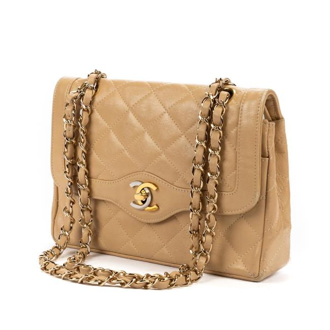 Item - Double Flap Vintage Paris Double Flap Beige In Quilted Leather Tote