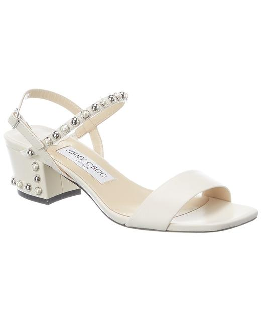 Item - Leather Aadra 45 Nxd Latte Silver White Sandals