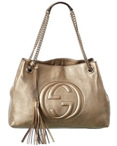 Gucci Soho Pre-owned Gold Leather Chain Bag 8114-1 Tote