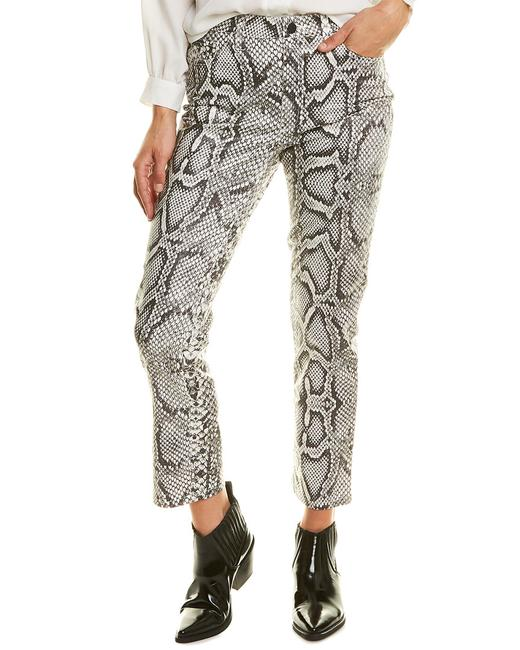 Item - The High-rise Scaled Python Cigarette Leg Skinny Jeans