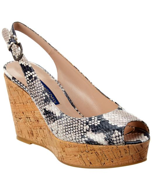 Item - Leather Wedge Jean Sandals