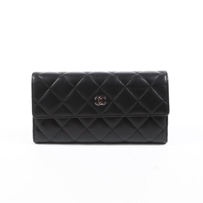 Item - Black Quilted Leather Cc Wallet
