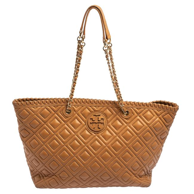 Item - Marion Brown Quilted Leather Tote