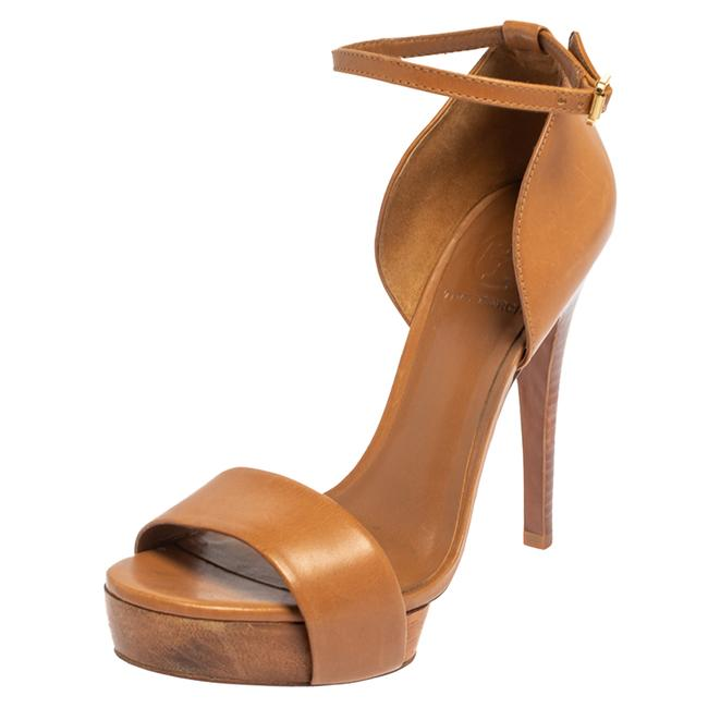 Item - Brown Leather Ankle Strap Size 38 Sandals